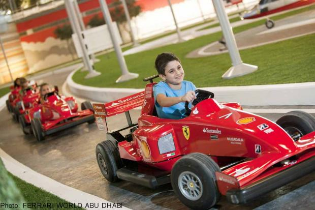 Ferrari Theme Park Spain Above Ferrari Theme Park in